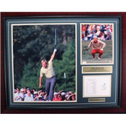 Jack Nicklaus Signed Photo With Masters Scorecard