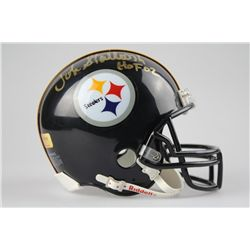 John Stallworth Signed Steelers COA Mini-Helmet