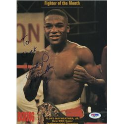 Floyd Mayweather Jr. Signed Magazine Page PSA/DNA