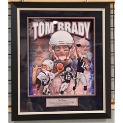 UnSigned-Tom Brady Custom Frame and Matte