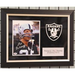 Signed-Fred Biletnikoff In Custom Frame w/COA