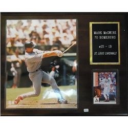 "Mark McGwire 70 Home Run ""Memorabilia"" Plaque"