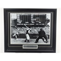 SIGNED-Bob Feller & Joe DiMaggio B&W Custom w/COA