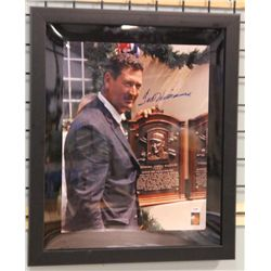 SIGNED-Ted Williams Custom Photo Frame Matte w/COA