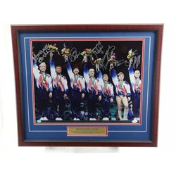 Signed-1996 1st Gold Medal Gymnastics Team w/COA