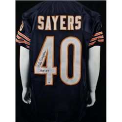 Gayle Sayers Signed Chicago Bears Custom Jersey