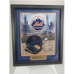 SIGNED-NY METS TEAM 37 Signatures Custom w/COA