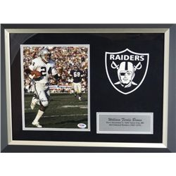 SIGNED-Willie Brown Raiders Custom Frame w/COA
