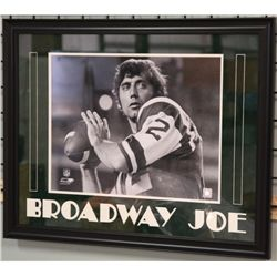 Unsigned-Joe Namath in Custom Frame and Matte