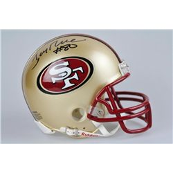 SIGNED-Jerry Rice Mini Helmet 49ers w/COA