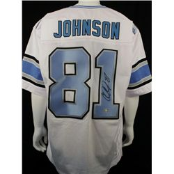 Signed-Calvin Johnson Custom Lions Jersey AAA COA