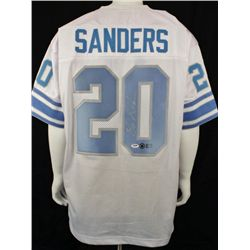 SIGNED-Barry Sanders Lions Custom Jersey 3 COAs