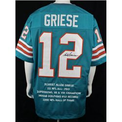 SIGNED-Bob Griese Miami Dolphins STAT Jersey PSA