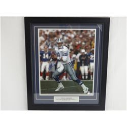 Signed-Troy Aikman Cowboys QB Custom w/COA