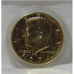 "1971-D Kennedy Half ""Gold Plated"""