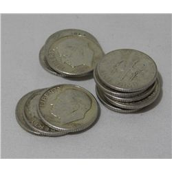 (14) Pre 1964 Silver Roosevelt Dimes
