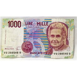 1990 1000 Lire from ITALY