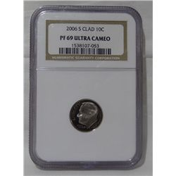 2006-S NGC PF69 Ultra Cameo Clad Roosevelt Dime