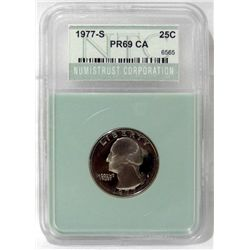 1977-S certified PR69 Cameo quarter dollar