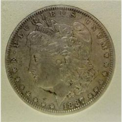 1887-O Morgan Silver Dollar MS-65 w/Appraisal