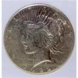 1922-S Peace Silver Dollar MS-65 w/Appraisal
