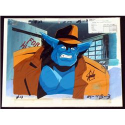 X-Men Animation Art Signed Stan Lee Orig Cel Background