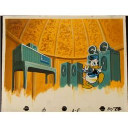 Background Animation Cel Donald Duck Original Spun Out