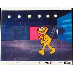 Zoe Original Cel Animation Background Backstage Theater