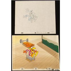 Original Coco Puffs Animation Drawing Cel Background