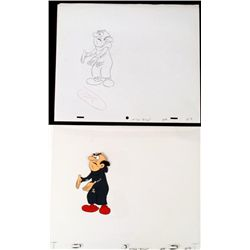Drawing Cut No Slack Original Cel Animation The Smurfs