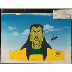 Orig Iron Man Bkgrd Animation Signed Stan Lee Cel Art