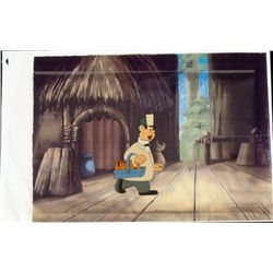 Milk Man Cel Original Animation Printed Background