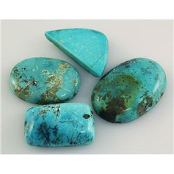 Natural Turquoise 195.02ctw Loose Gemstone 3pc Big Size