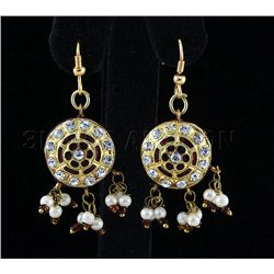 4.84GRAM INDIAN HANDMADE LAKH FASHION EARRING