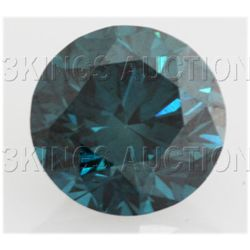 1.3/4 cts. Loose Sky Blue Diamonds Round, SI