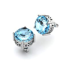 Topaz 5.753ctw Earring 14kt White Gold