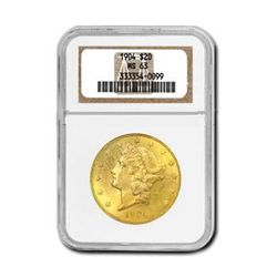 Certified US Gold $20 Liberty MS63 (Dates Our Choice)
