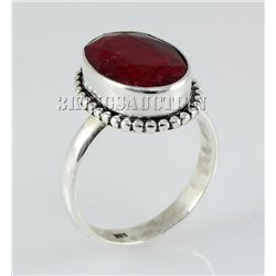 RUBY CORRUNDUM 25.83CTW STERLING SILVER RING