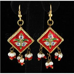 5.01GRAM INDIAN HANDMADE LAKH FASHION EARRING