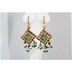 5.29GRAM INDIAN HANDMADE LAKH FASHION EARRING
