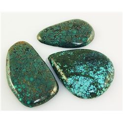 Natural Turquoise 189.12ctw Loose Gemstone 3pc Big Size