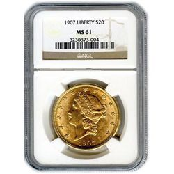Certified US Gold $20 Liberty MS61 (Dates Our Choice)