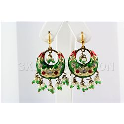 7.38GRAM INDIAN HANDMADE LAKH FASHION EARRING