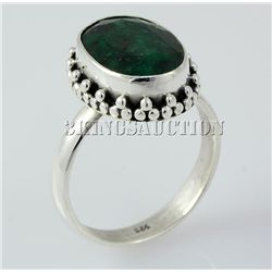 EMERALD BERYL 29.48CTW STERLING SILVER RING