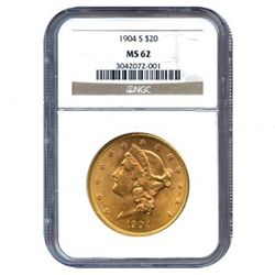 Certified US Gold $20 Liberty MS62 (Dates Our Choice)