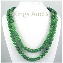 1346.00ctw Jade Round Handmade Necklace