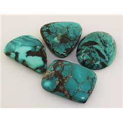 Natural Turquoise 229.13ctw Loose Gemstone Lot of 6