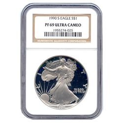 Certified Proof Silver Eagle PF69 1990