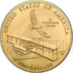 Gold $10 Commemorative 2003 First in Flight Unc