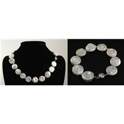 SET OF QUEEN OF PEARLS NECKLACE&BRACELET TOTAL 567.71CT